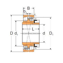 Чертеж-схема подшипника 22222 KMBW33+H322 MPZ