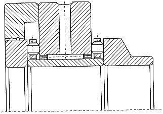 Чертеж-схема подшипника 2-504813 К1