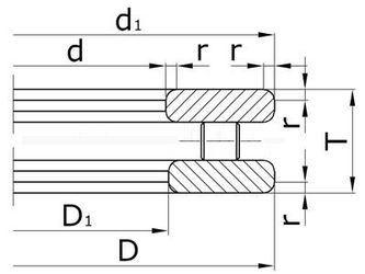 Чертеж-схема подшипника 2-9124