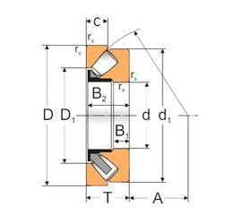 Чертеж-схема подшипника 29414