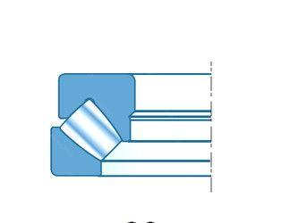 Чертеж-схема подшипника 29436