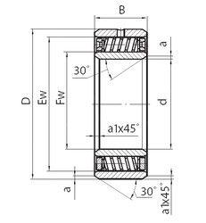 Чертеж-схема подшипника 3005728
