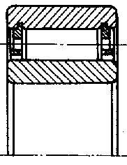 Чертеж-схема подшипника 3104236