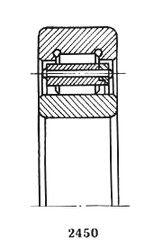 Чертеж-схема подшипника 32207 М