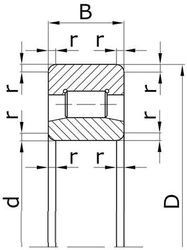 Чертеж-схема подшипника 32210 Л