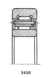 Чертеж-схема подшипника 32216 КМ