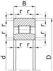 Чертеж-схема подшипника Подшипник32317Д