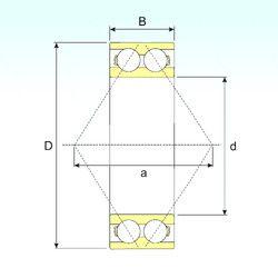 Чертеж-схема подшипника 3305