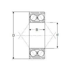 Чертеж-схема подшипника 3307