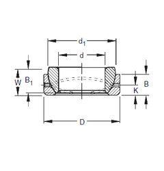 Чертеж-схема подшипника 37SBT60 Timken