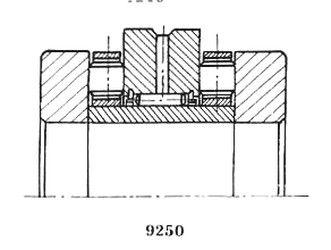 Чертеж-схема подшипника 4-РИК2572 Л
