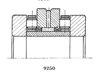 Чертеж-схема подшипника 4-РИК45105 Л