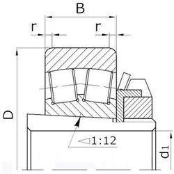 Чертеж-схема подшипника 40-13525 А