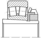 Чертеж-схема подшипника 40-3013748 Т