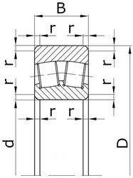 Чертеж-схема подшипника 40-40031/850 Х1Н