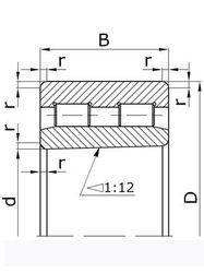 Чертеж-схема подшипника 4162921
