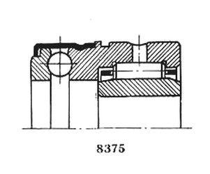 Чертеж-схема подшипника 4-484807