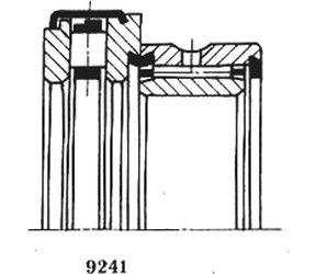 Чертеж-схема подшипника 4-544207 К