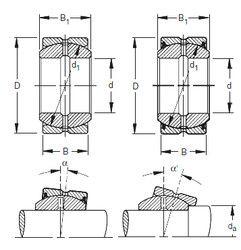 Чертеж-схема подшипника 45SBB72 Timken