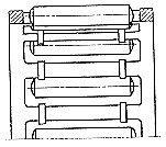 Чертеж-схема подшипника 464904 Е