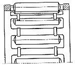 Чертеж-схема подшипника 464905 Е