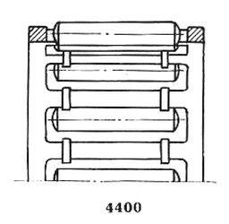 Чертеж-схема подшипника 464907 Е