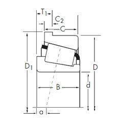 Чертеж-схема подшипника 466-S/453-B Timken