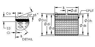 Чертеж-схема подшипника 52220