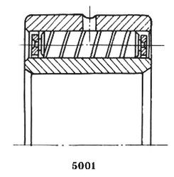 Чертеж-схема подшипника 5740