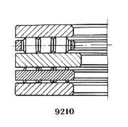 Чертеж-схема подшипника 59920