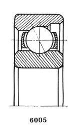 Чертеж-схема подшипника 6012 Х
