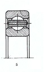 Чертеж-схема подшипника 6-202 Г