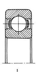 Чертеж-схема подшипника 6-206 А