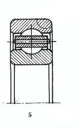 Чертеж-схема подшипника 6-208 Р