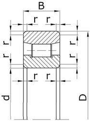 Чертеж-схема подшипника 6-2212 Л