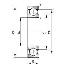 Чертеж-схема подшипника 6340 M