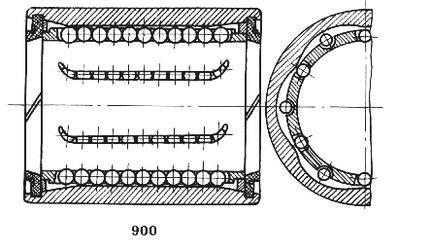 Чертеж-схема подшипника 6-510806 Е1С17