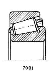 Чертеж-схема подшипника 7307 У