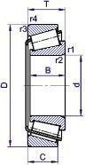 Чертеж-схема подшипника 7311 В