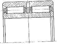 Чертеж-схема подшипника 784742